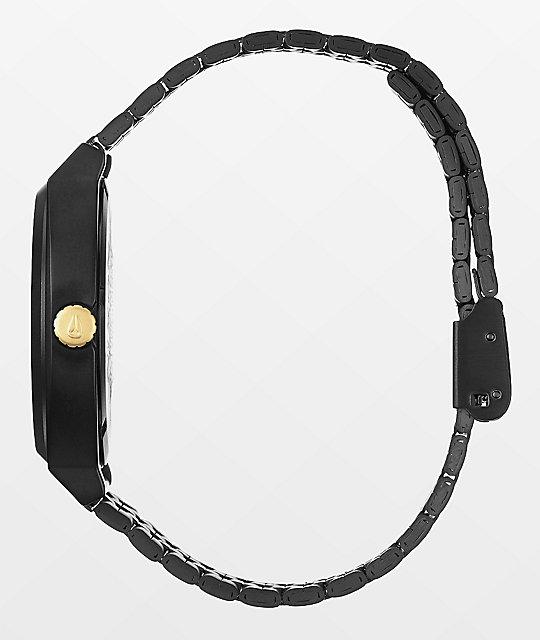 Nixon Time Teller Matte Black & Gold Analog Watch