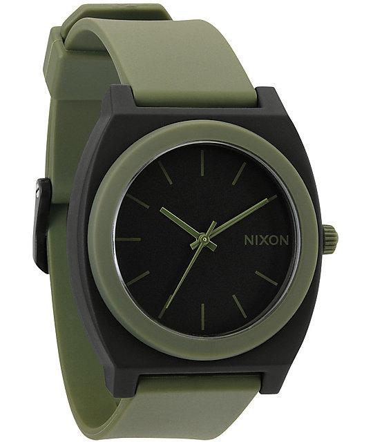 Nixon Time Teller P Matte Black & Surplus Green Analog Watch