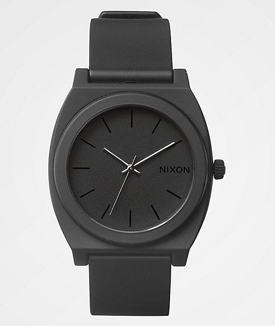 nixon time teller p matte black analog watch at zumiez pdp nixon time teller p matte black analog watch