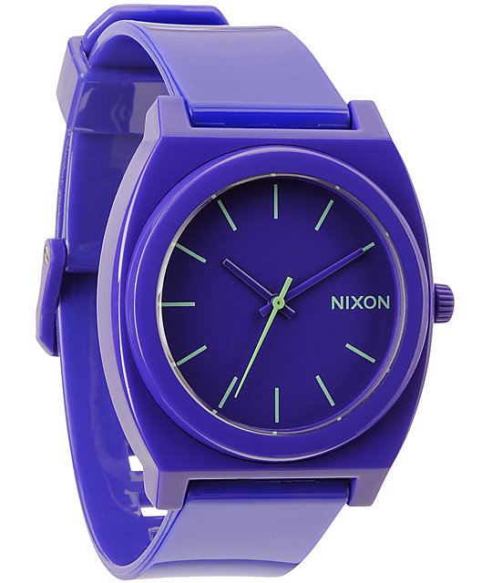 Watch Links Nixon Purple: Nixon Time Teller P Purple Analog Watch