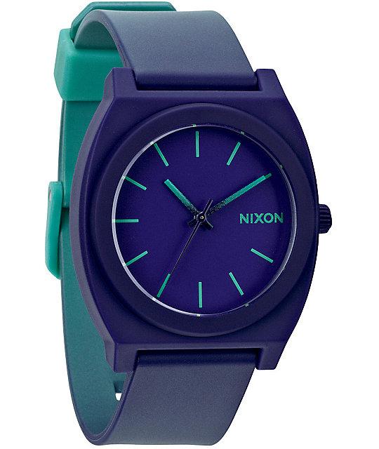 Watch Links Nixon Purple: Nixon Time Teller P Purple To Teal Fade Analog Watch