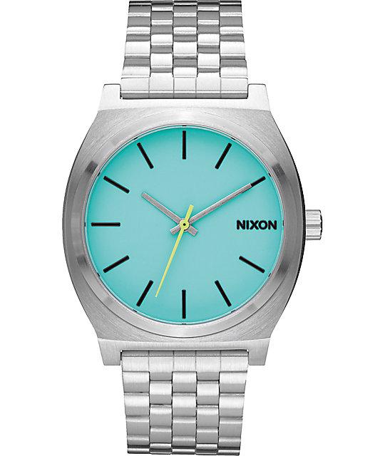 Nixon Time Teller Seafoam Lum Analog Watch