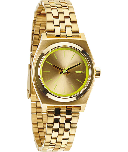 Nixon Time Teller Small Gold & Yellow Analog Watch