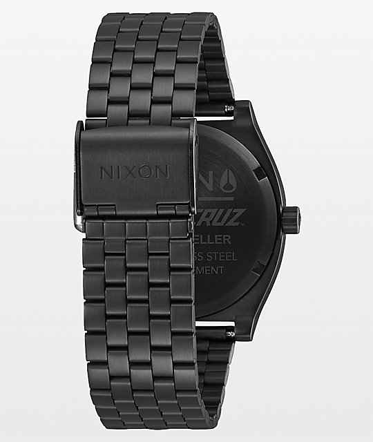 Nixon Time Teller X Santa Cruz Black Watch