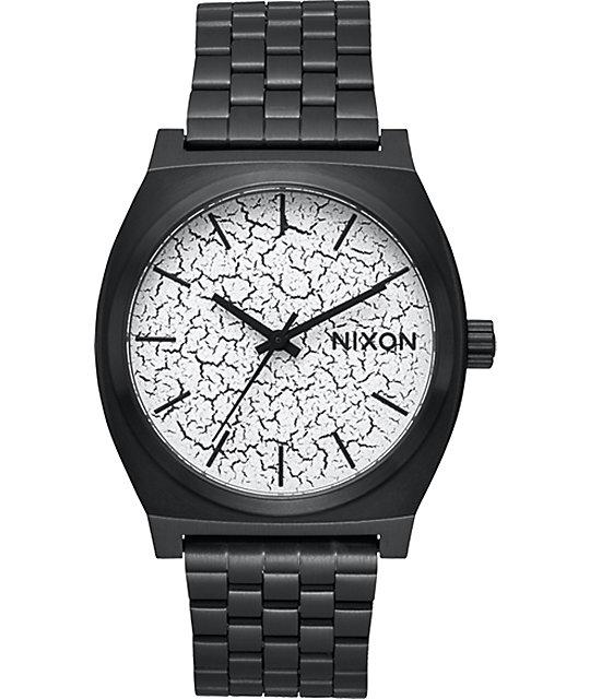 Nixon timeteller black crackle watch at zumiez pdp for Watches zumiez