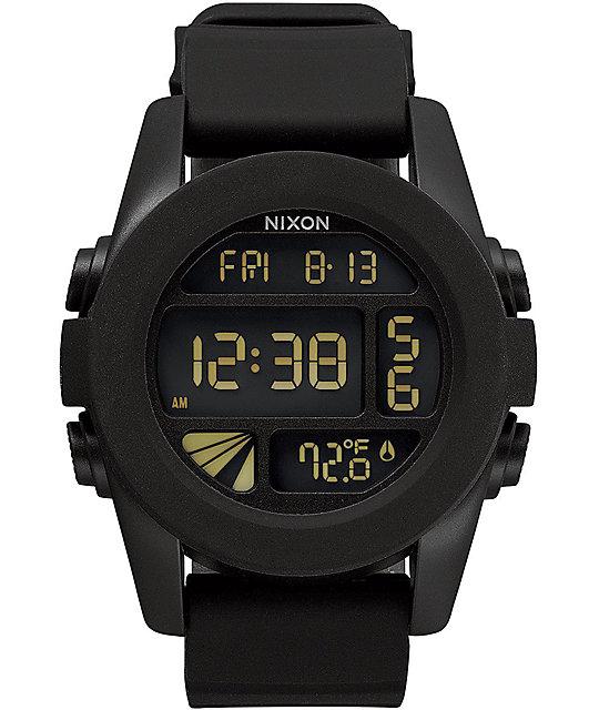 nixon unit black hp digital zumiez
