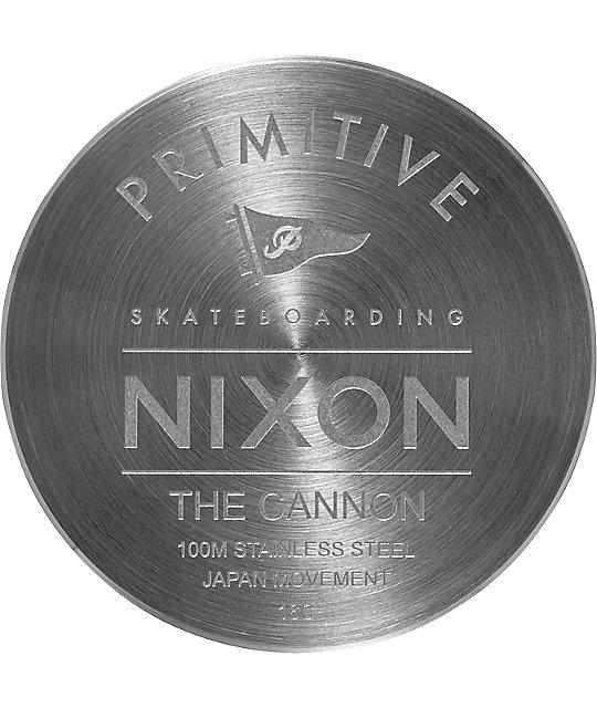 Nixon x Primitive Cannon Silver & Blue Watch