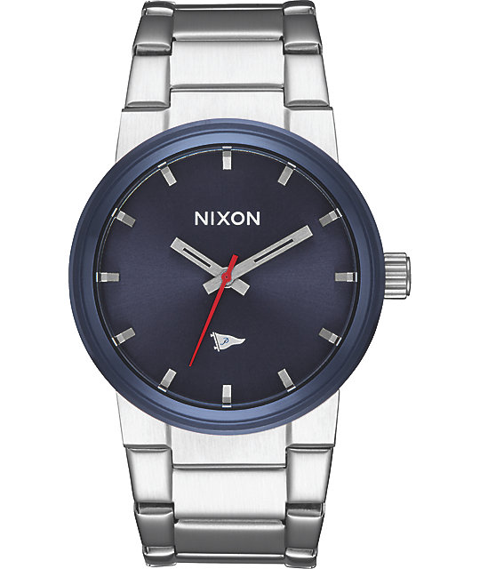 Nixon x Primitive Cannon Silver & Blue Watch