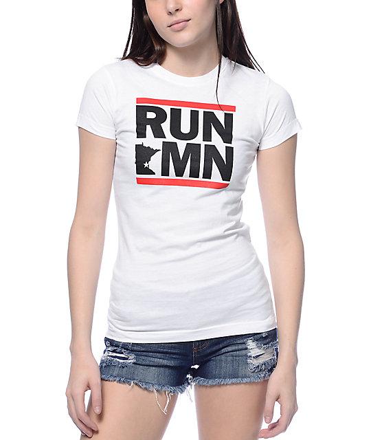 No Coast Clothing Run MN White T-Shirt
