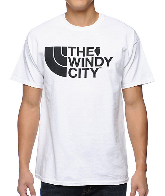No Coast Windy City White T-Shirt