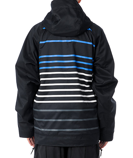 Nomis Lines 10K Black Mens Snowboard Jacket