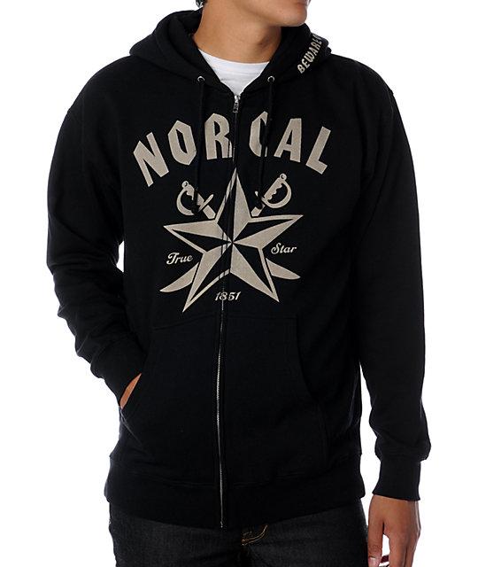 Nor Cal Beware Black Hoodie