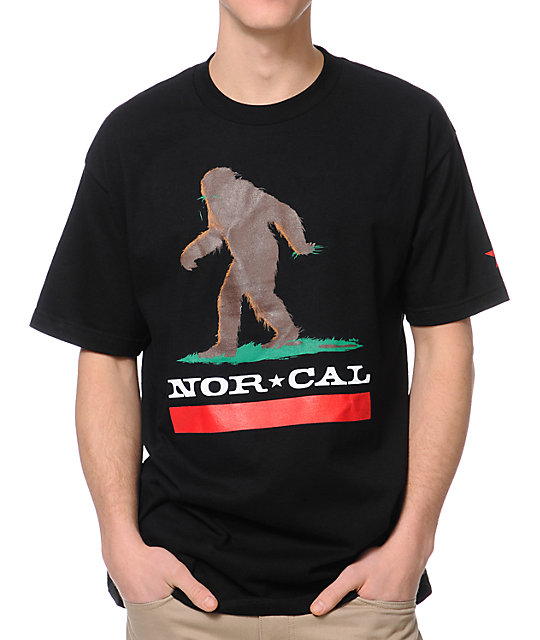 Nor Cal Big Foot Country Black T-Shirt