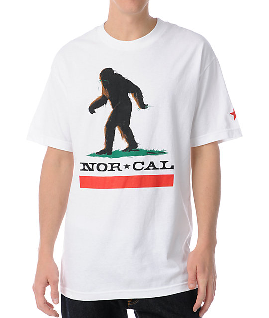 Nor Cal Big Foot Country White T-Shirt