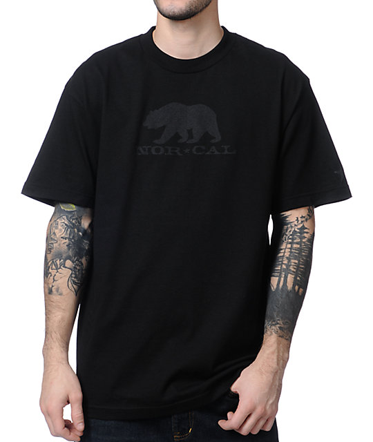 Nor Cal Black Bear Black T-Shirt