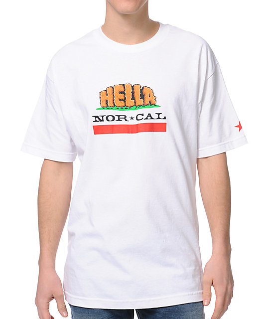 Nor Cal Hella Republic White T-Shirt