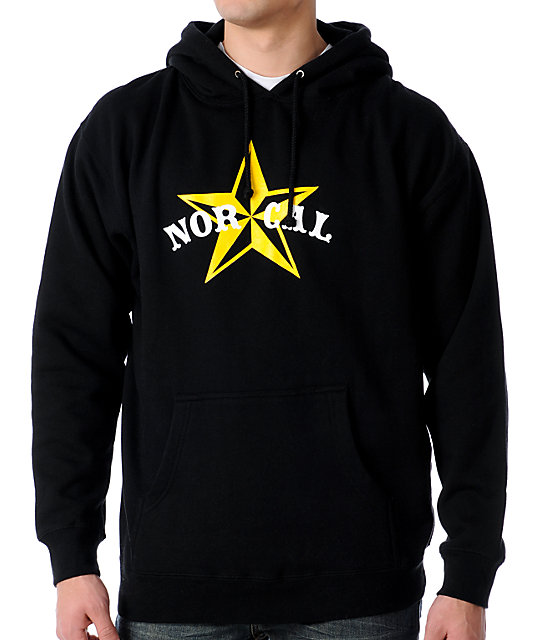 Nor Cal Nautical 2 Black Pullover Hoodie
