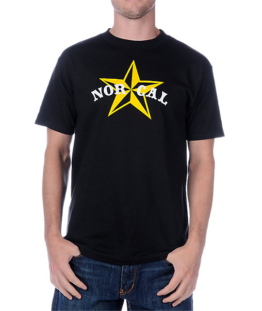 Nor Cal Nautical 2 Black T-Shirt