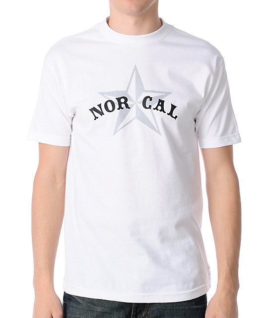 Nor Cal Nautical 2 White T-Shirt