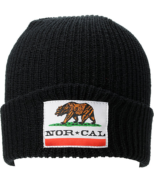 Nor Cal Public Enemy 2 Black Beanie