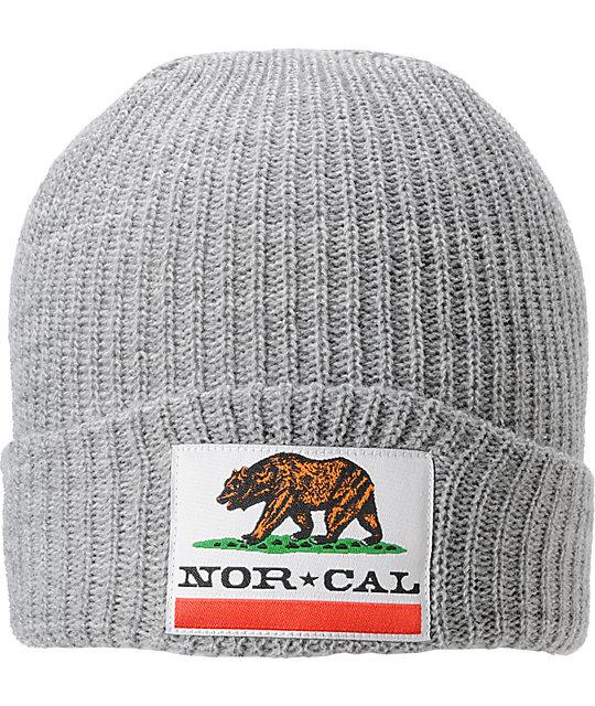 Nor Cal Public Enemy 2 Grey Beanie