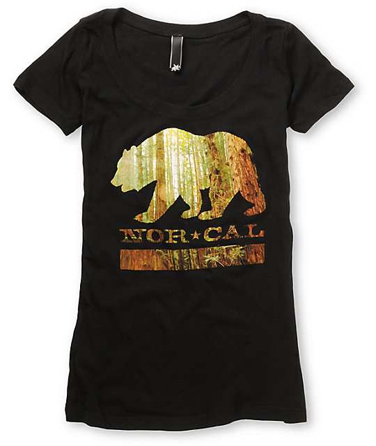 Nor Cal Redwood Bear Black T-Shirt