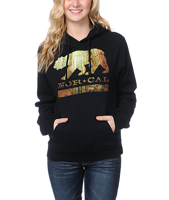 Nor Cal Redwood Black Pullover Hoodie