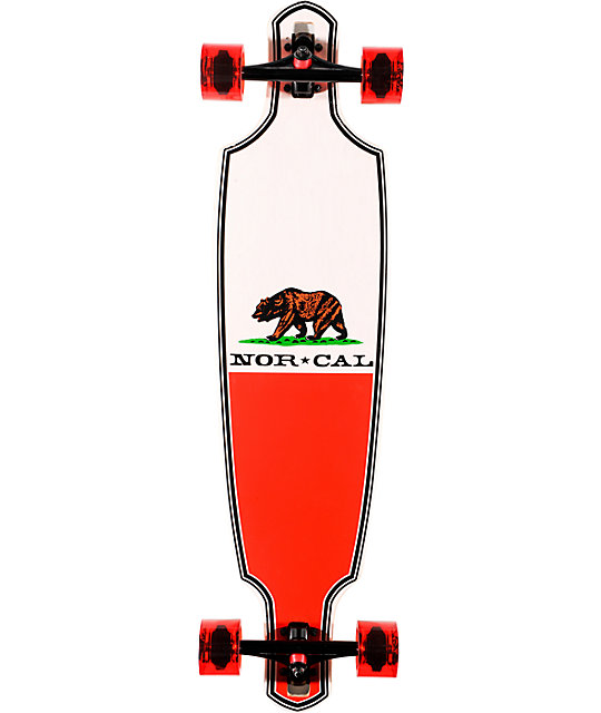 "Nor Cal Republic Drop Through 37.8""  Cruiser Longboard Complete"
