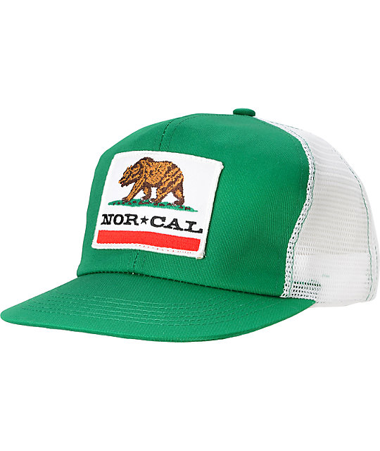 Nor Cal Republic Green Trucker Hat