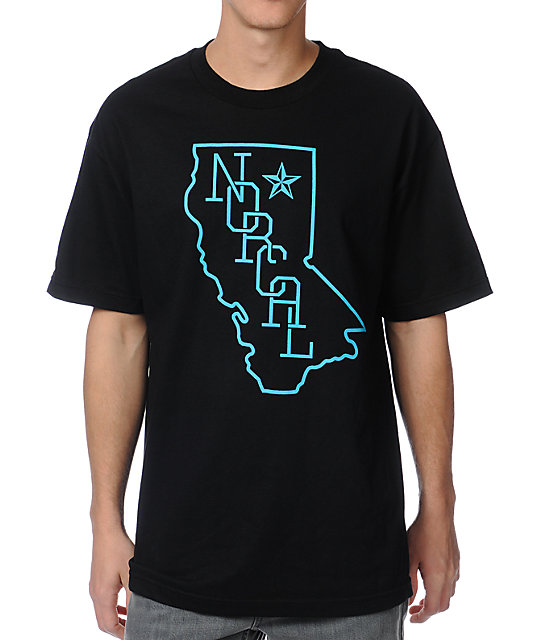 Nor Cal Rookie Black & Teal T-Shirt