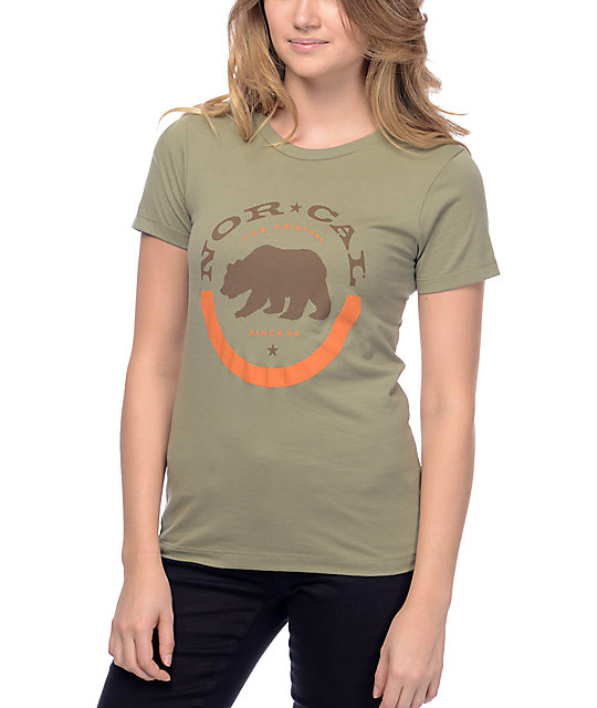 Nor Cal Rounded Out Olive T-Shirt