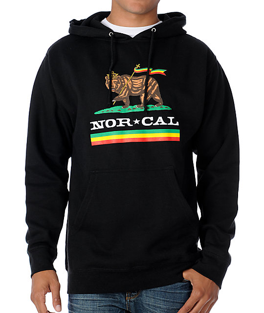 Nor Cal Rude Bear Black Pullover Hoodie