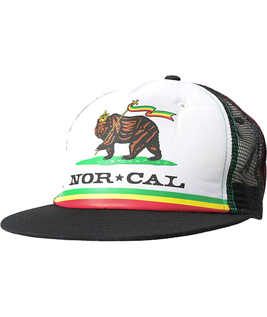 Nor Cal Rude Boy Rasta Trucker Hat