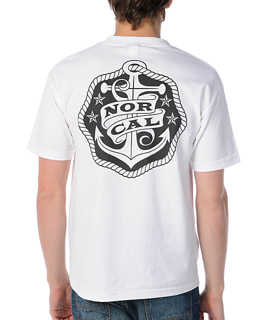 Nor Cal Safe Harbor White T-Shirt