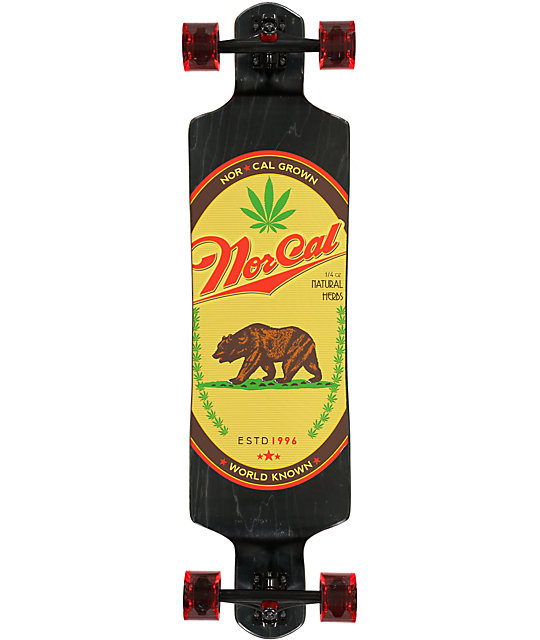 "Nor Cal World Known 40""  Drop Down Longboard Complete"