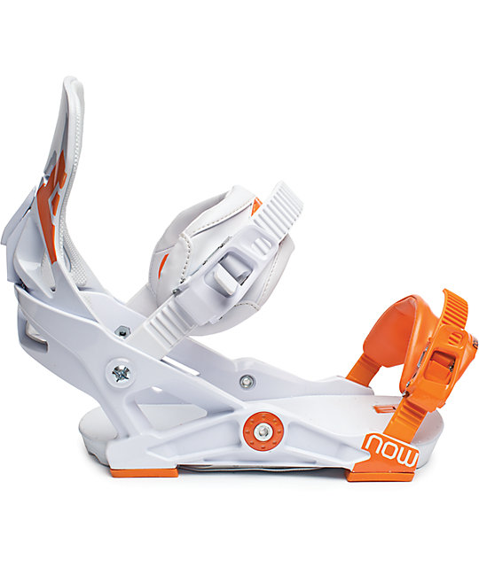 Now IPO White Snowboard Bindings