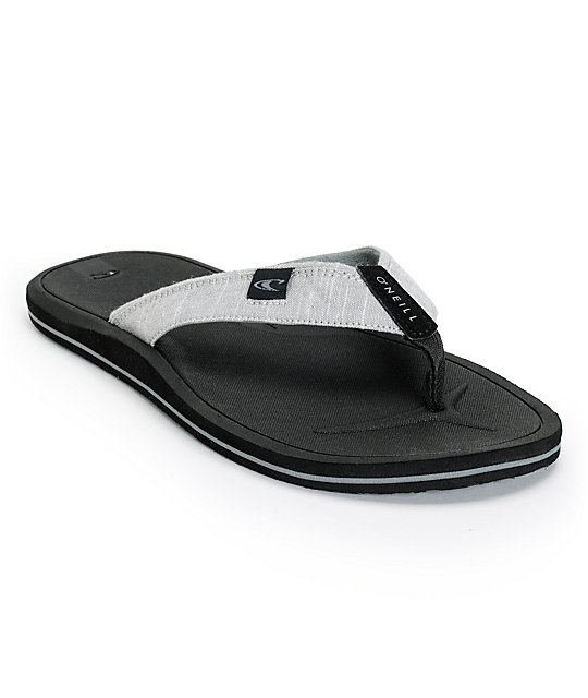 O'Neill Nacho Libre 2 Grey & Black Sandals