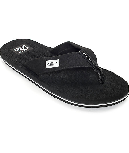 O'Neill Phluff Daddy Black Sandals