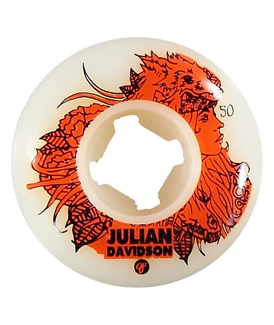 OJ Davidson White 50mm Skateboard Wheels