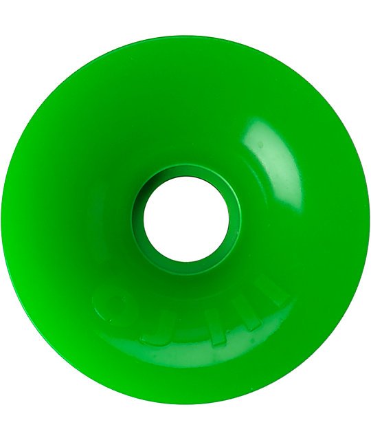 OJ III 75mm Green Thunder Juice Longboard Wheels