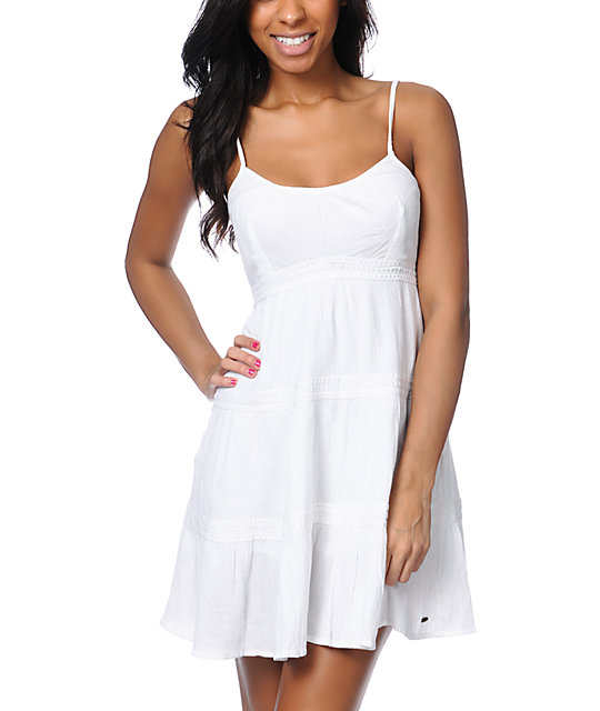 ONeill Eva Crochet White Gauze Dress at Zumiez : PDP