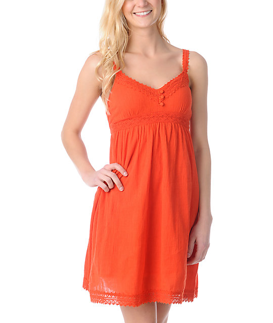 ONeill Honalula Red Gauze Dress