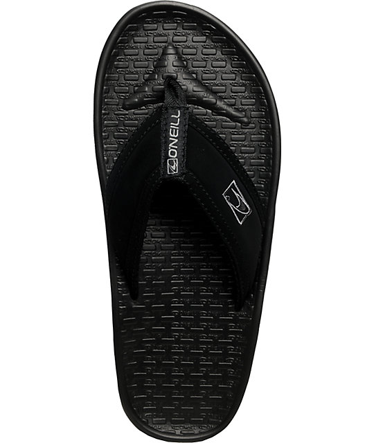 ONeill Koosh Black Flip-Flop Sandals