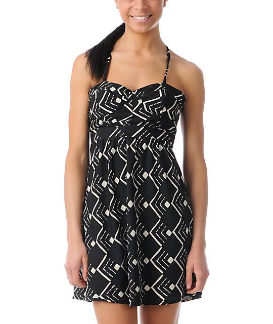 ONeill Luna Black Tribal Print Dress