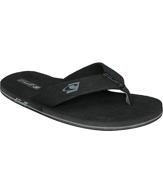 ONeill Phluff Daddy Black Sandals