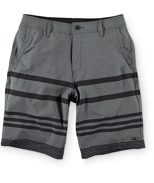 "ONeill Streaker Charcoal 21"" Hybrid Shorts"