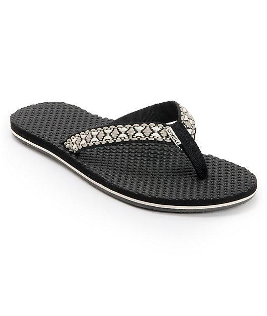 ONeill Tides Black Sandals