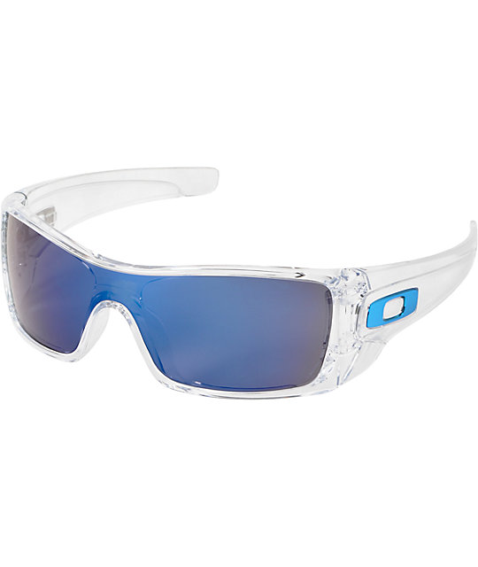Oakley Batwolf Clear & Ice Iridium Sunglasses