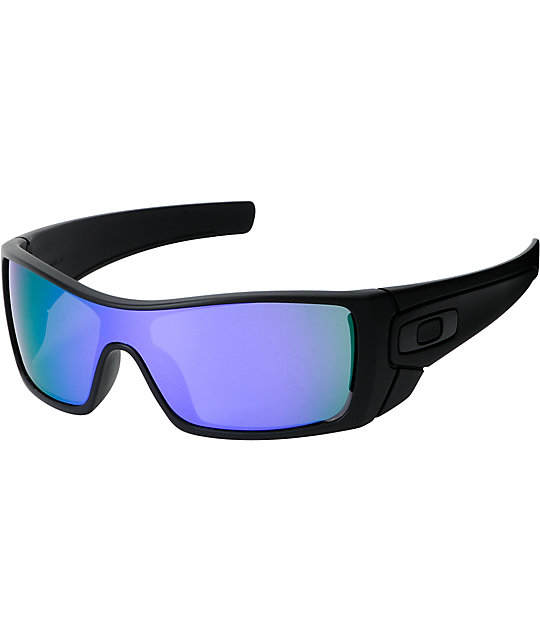oakley sunglasses zumiez  oakley batwolf matte black & violet iridium sunglasses
