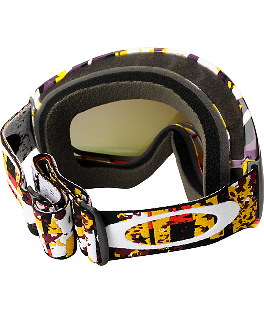 Oakley Canopy Rocked Out Red Snowboard Goggles